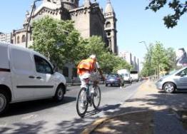 Contaminación en ciclovías