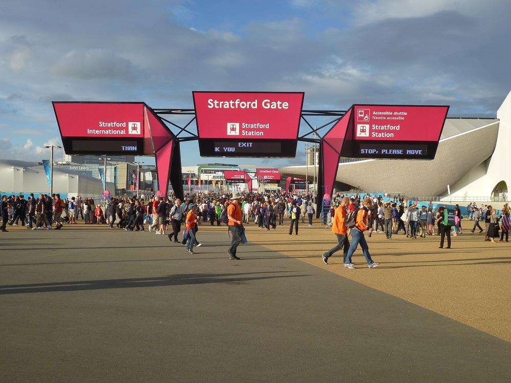 La estación de Stratford, hacia donde por ejemplo se va a trasladar la terminal del Eurostar, actualmente en St. Pancras.