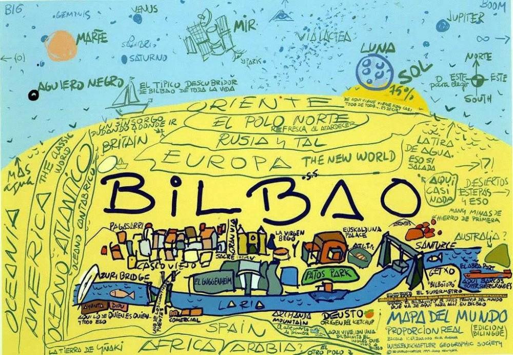 Humor: mapa mundi, por Jek Larson.