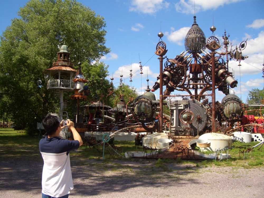 Escultura Forevertron. © LiveALittle.org, vía Flickr.