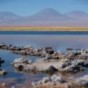 Laguna Cejar en el Salar de Atacama.
