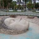 Escultura de Gabriela Mistral hecha por Samuel Román.