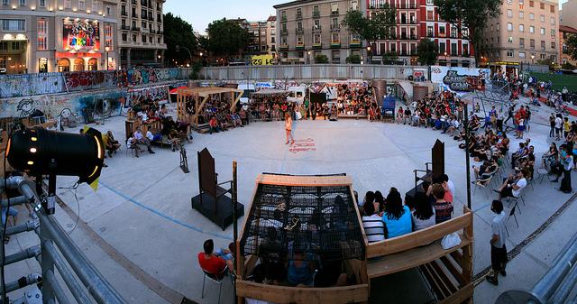 Campo de Cebada. © Ars Electronica, vía Flickr.