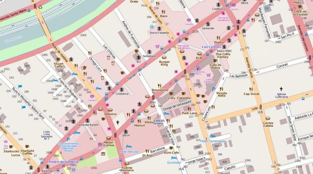 Open Street Map, mapa urbano colaborativo. Fuente: openstreetmap.org/