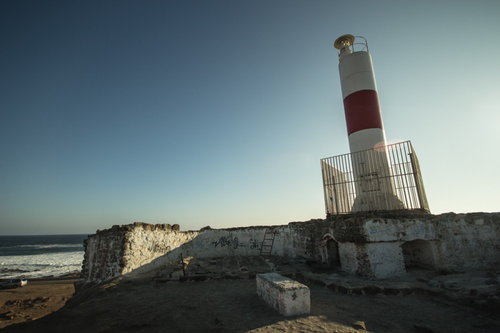 Faro de la Ex isla El Alacrán
