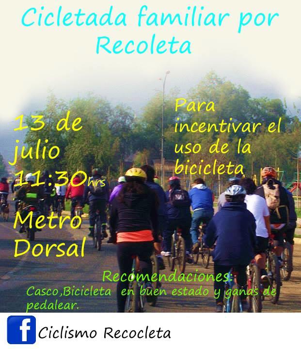 Cicletada familia por Recoleta