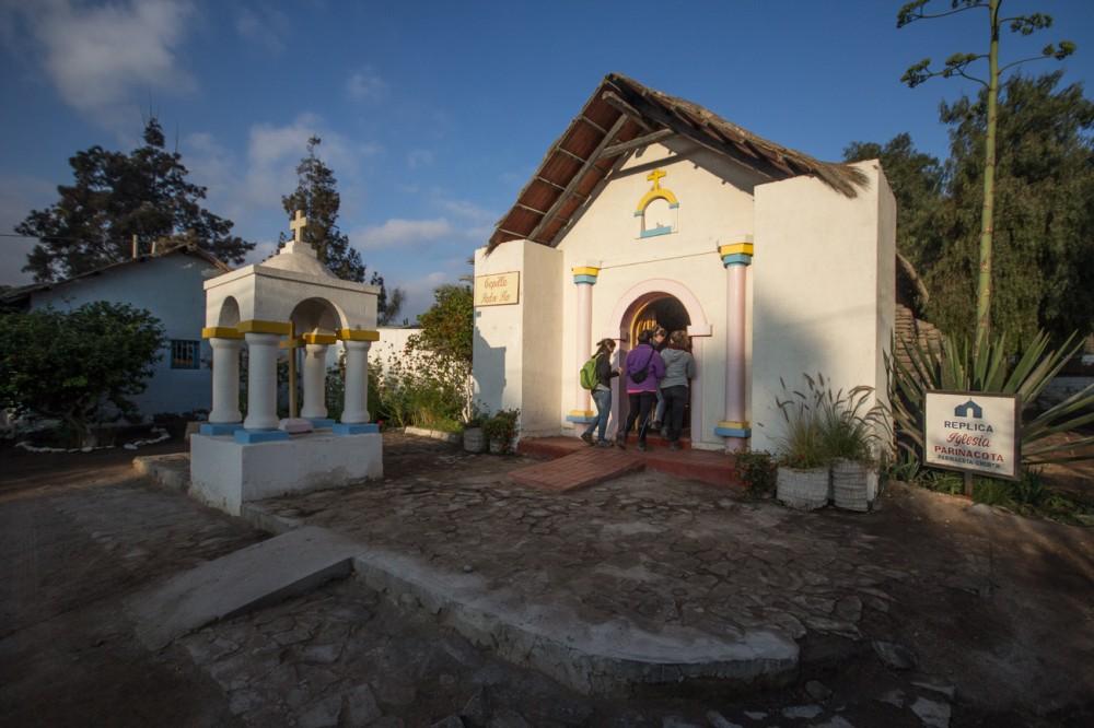 Réplica de la iglesia de Parinacota en el Poblado Artesanal
