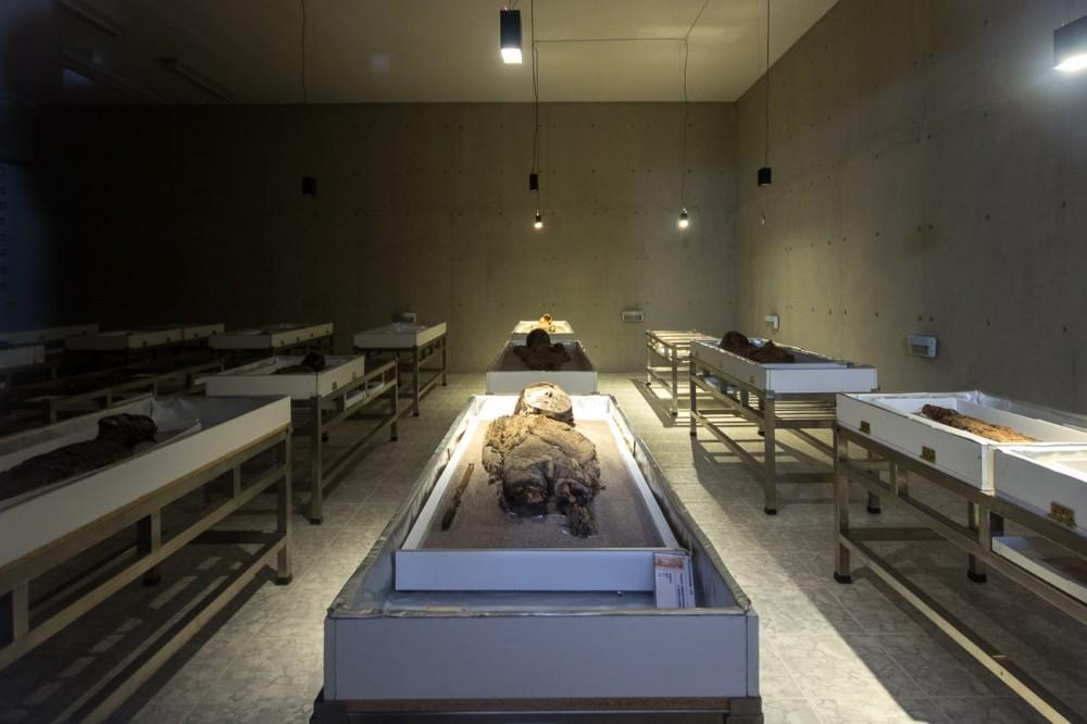Sala de conservación de momias chinchorro