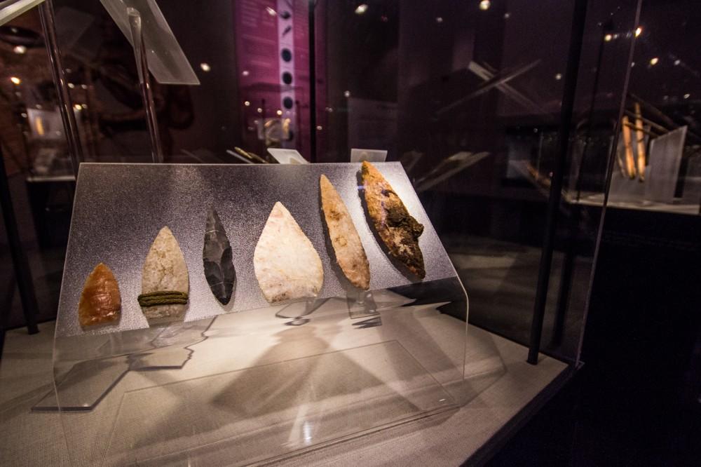 Puntas de caza moldeadas en piedra, Sala Chinchorro