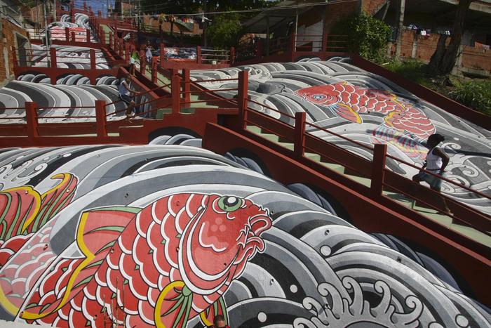 Favela Painting: Crucero por el río, que se celebró en 2008. Imagen cortesía de la página Kickstarter Favela Painting