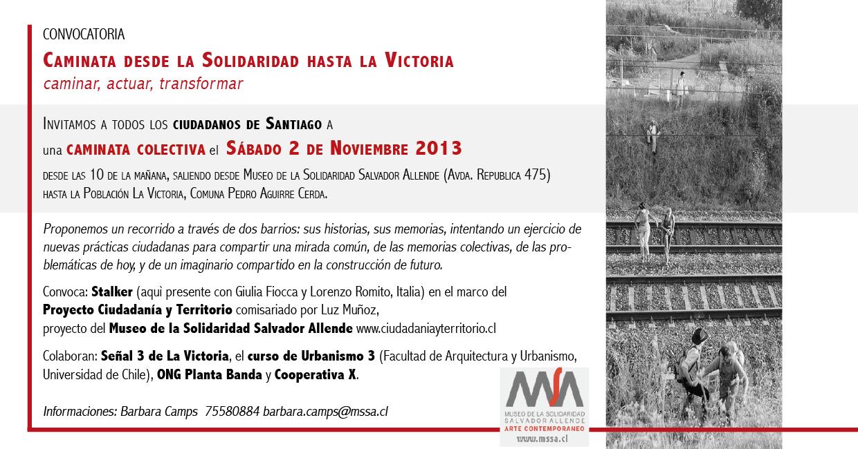 Caminata Colectiva desde el Museo de La Solidaridad hasta La ...