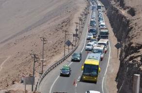 Congestión vehicular en regiones