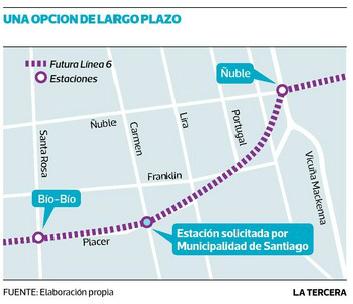Municipio de Santiago pide a Metro nueva estación en ...