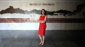 Ministra de Obras Públicas Loreto Silva