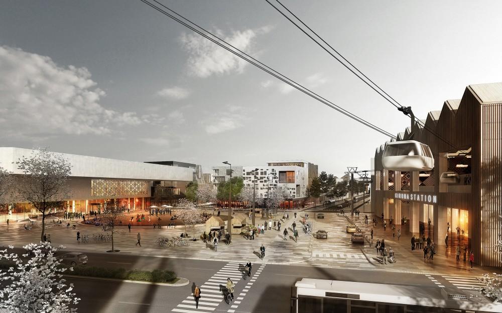 Nuevo centro de Kiruna. © White ; vía Archdaily Brasil.