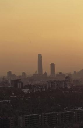 Contaminación en Santiago en verano