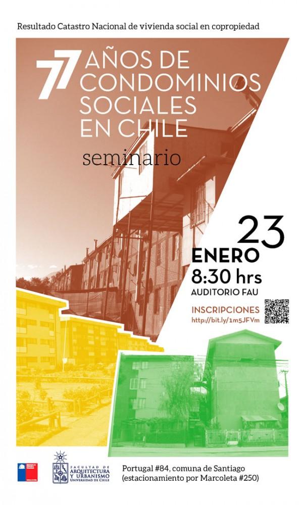 Afiche Seminario 77 años de condominios sociales en Chile