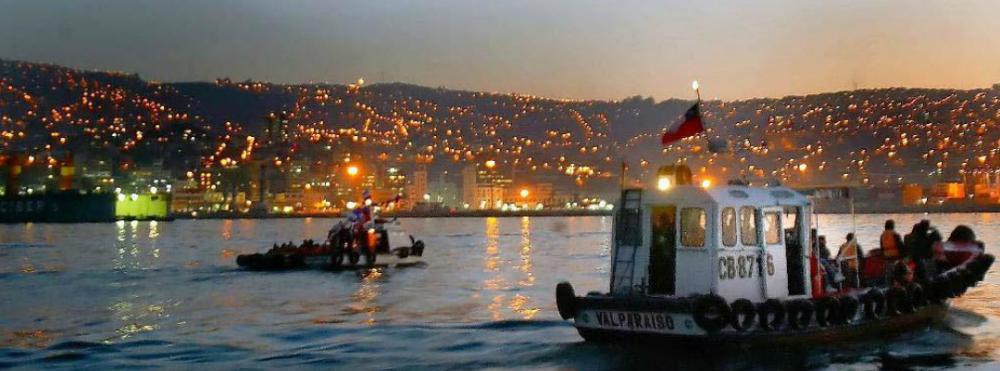 Tours nocturnos Valparaíso Muelle Prat