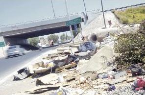 basura en autopistas