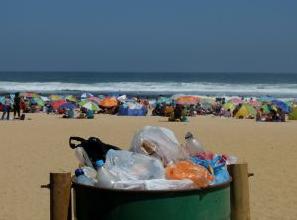 basura en las playas