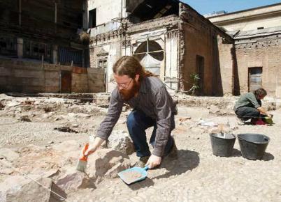 Restos arqueológicos en Palacio Pereira