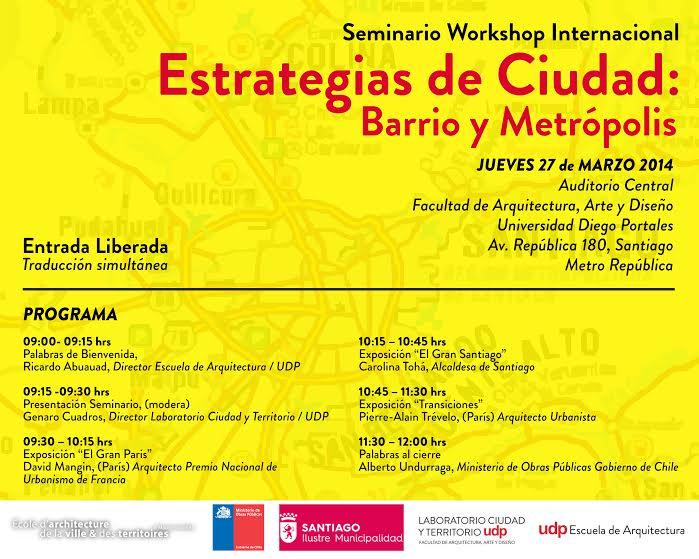 Afiche Estrategias de ciudad- barrio y metrópolis