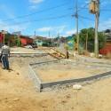 Trabajos en Plaza La Infancia. © Fundación Junto al Barrio.