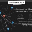 Santiago de A a B 7ª Medición tiempos de viaje