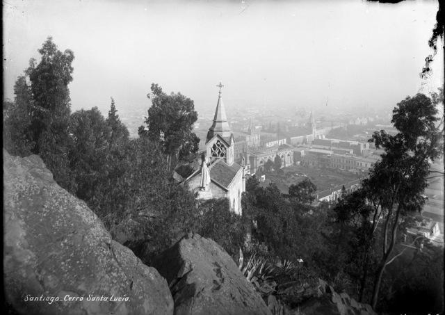 Cerro Santa Lucía. Cortesía Carlos Maillet.