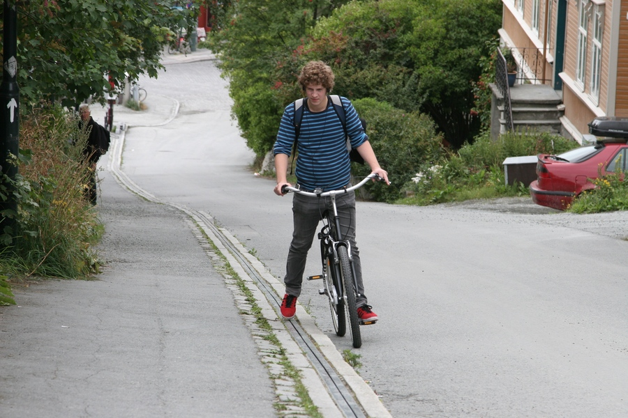 Trampe bicycle lift Norway