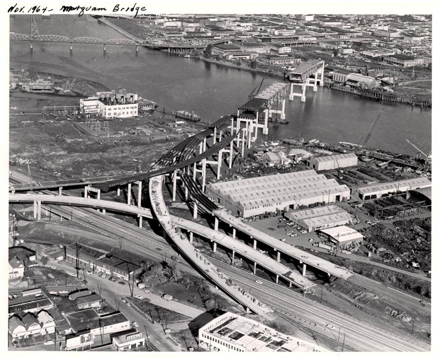 Harbor Drive. Fuente imagen: Vintage Portland.
