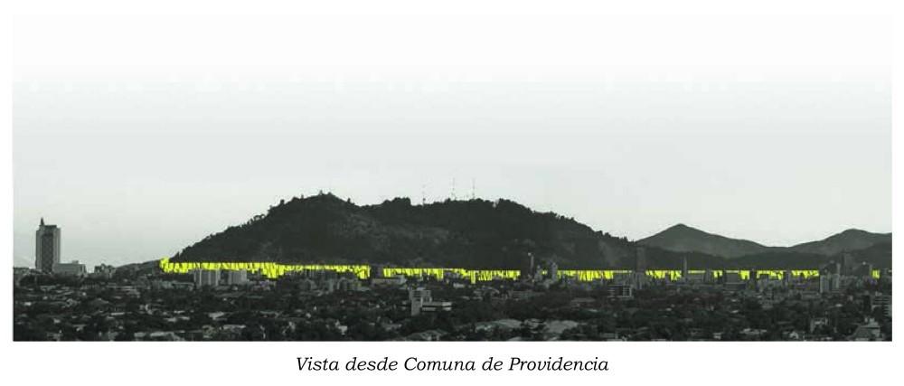 Vista desde Comuna de Providencia Cortesía de ELEMENTAL