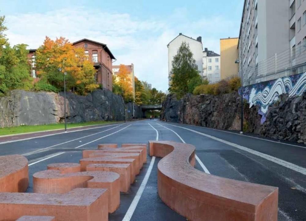 Baana - Corredor para ciclistas y peatones, Helsinki (Finlandia) 2
