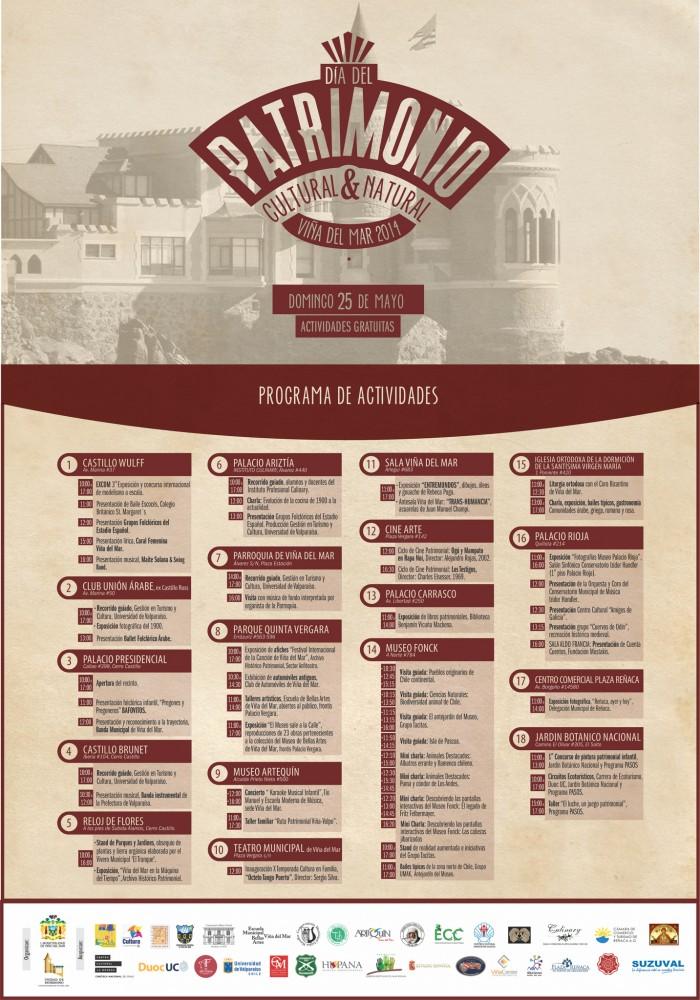 Afiche Día del Patrimonio en Viña del Mar. Haz click para agrandar.