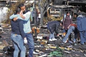 incendio campamento Lo Barnechea