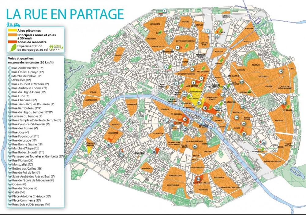 Zonas 30 en París.