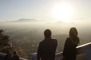 Vista contaminación en Santiago