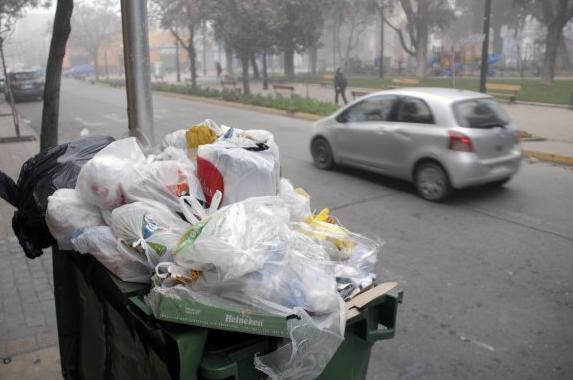 Recolección de basura en Santiago
