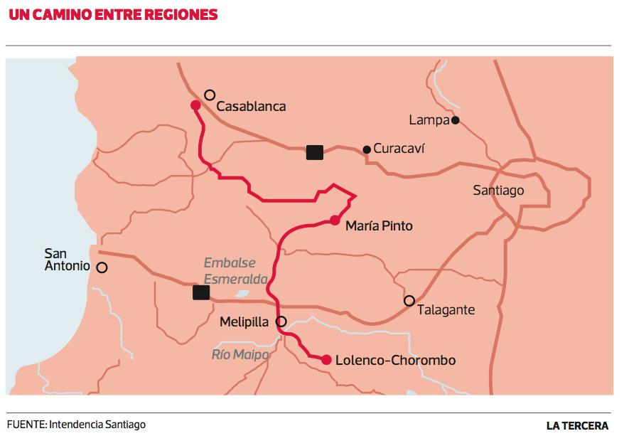 Ciclovía entre Casablanca y Melipilla