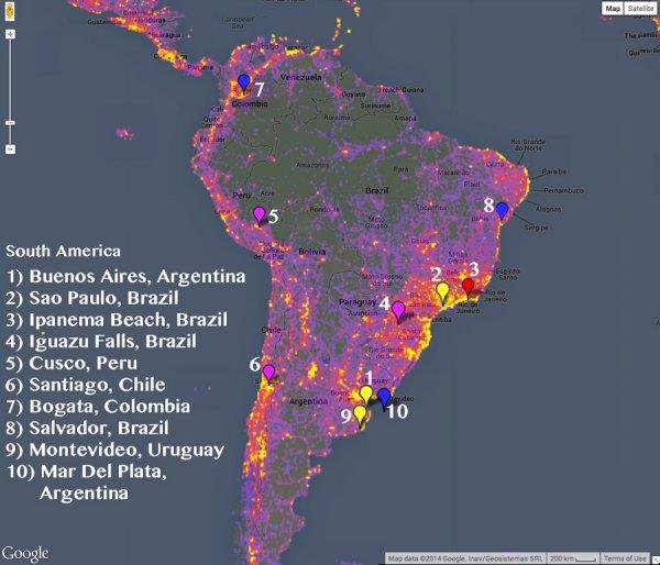 10 ciudades más fotografiadas de Sudamérica