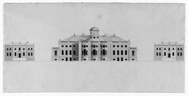 Un diminuto domo en el diseño inicial de William Thornton (1793)