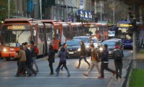 Refuerzo buses del Transantiago y Metro