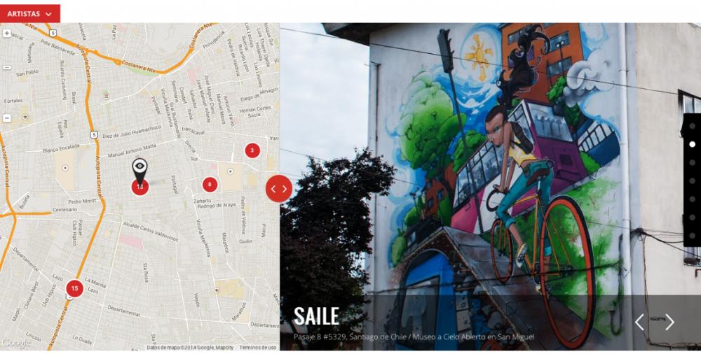 Visualización de Museo a Cielo Abierto en San Miguel en Street Art Project, Google.