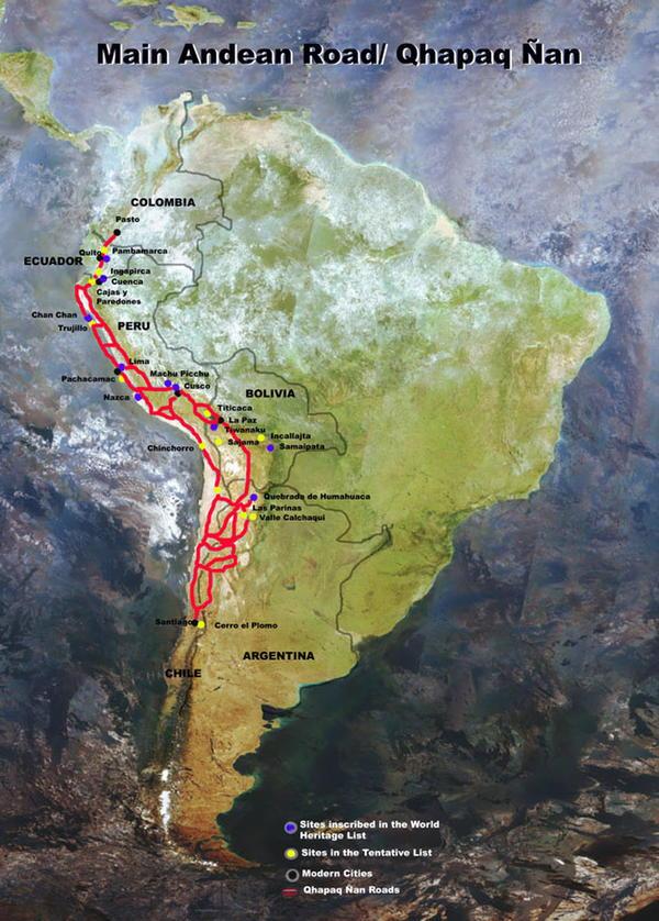 Camino del Inca. Fuente: Unesco.