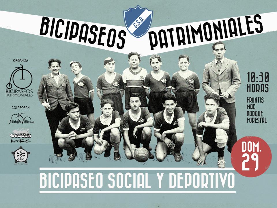 Afiche Bicipaseo Social y Deportivo Bicipaseo Patrimoniales 29 junio