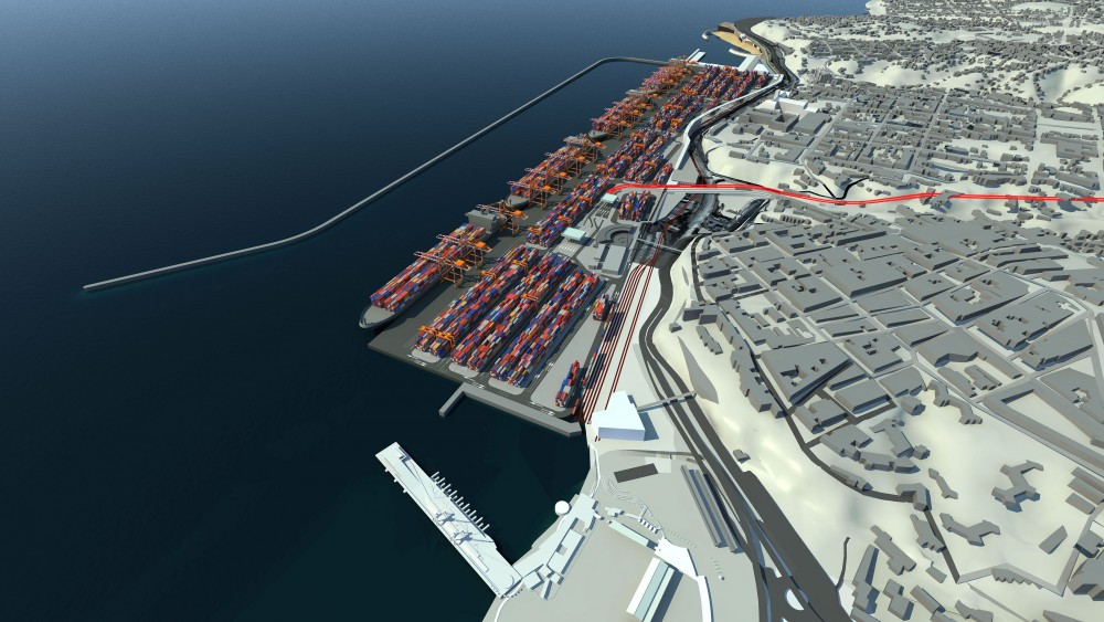 Propuesta Puerto de Valpraíso en sector Yolanda.