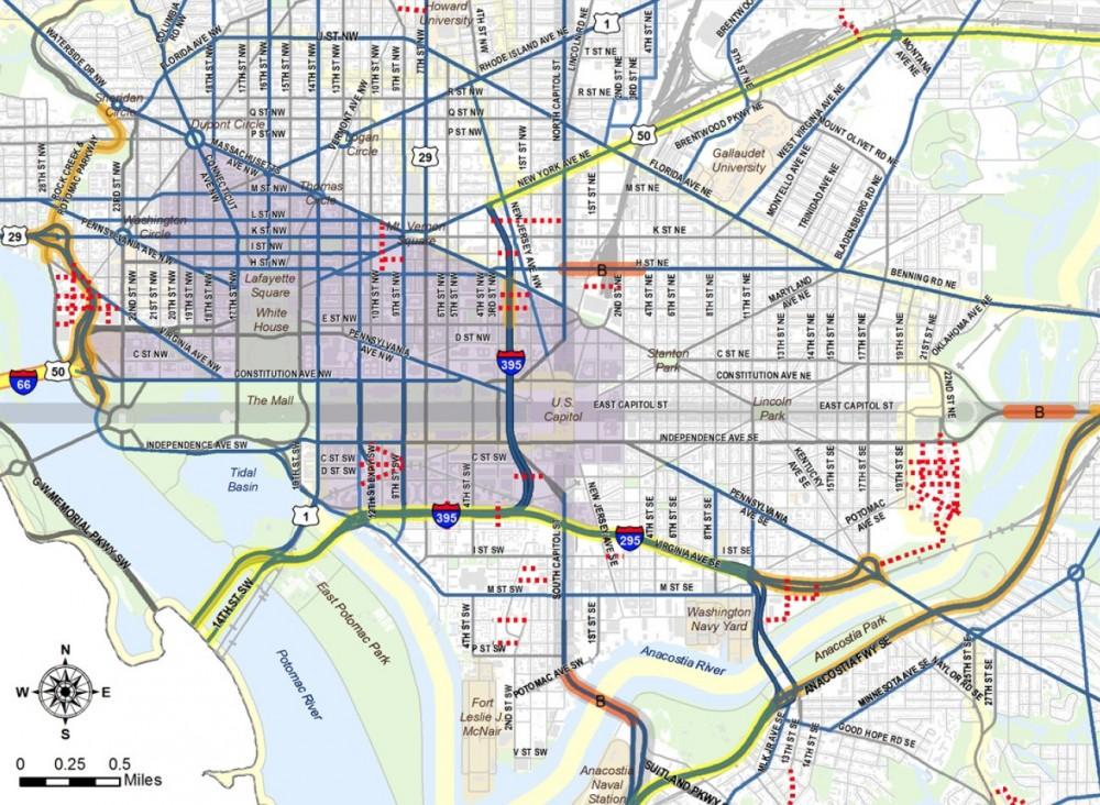 Perímetro de tarificación vial en Washington (EE.UU).