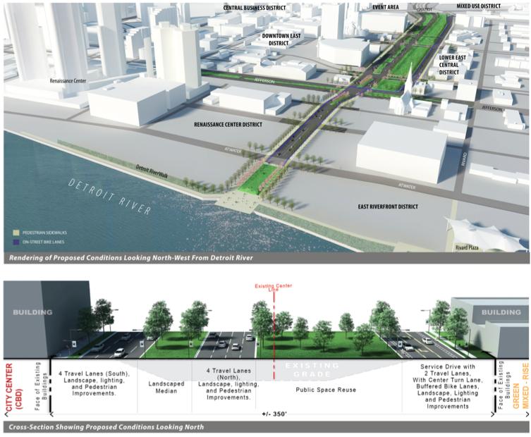 Detroit remodelacion autopista i375 opcion 5