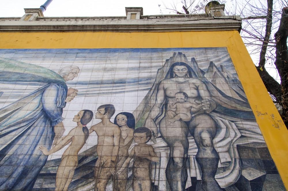 Mural en homenaje a Gabriela Mistral de Fernando Daza Osorio 2 © Plataforma Urbana