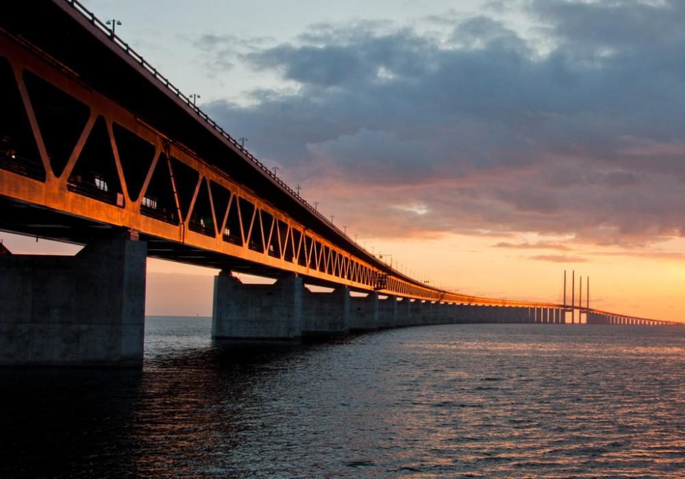 Puente Öresund entre Dinamarca y Suecia. © L@rsson, vía Flickr.